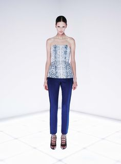 Parity Bustier and Keystroke Trouser by CAMILLA AND MARC http://www.camillaandmarc.com/parity-bustier-snake-print.html