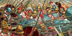 IGOR DZIS BATTLE PAINTING: The Battle of Sellasia 222 BC
