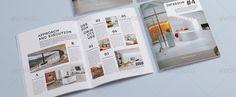 a5 landscape brochure magazine mock up mock up