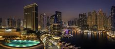 The Marina - A panoramic view for the Dubai Marina, a 8 images stitching together with a file size of 2GB :)