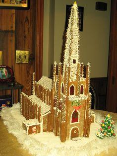 Beautiful elegant gingerbread church by Mike Porteous