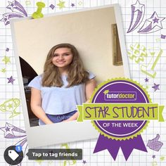 """Congratulations to Star Student of the Week, Jennifer H.! Here is what Jennifer's mom said about our tutor and our service:  """"We are extremely happy with the choice Tutor Doctor Tucson made matching the right tutor to our daughter, Jennifer. Our tutor, Dave, and Jennifer have a fantastic rapport and understanding....Dave and Tutor Doctor Tucson have gone far beyond what I expected""""...Jovanka H"""