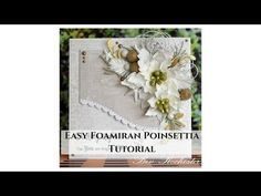 Easy Foamiran Poinsettia Frilly Foamiran Peony Flower Easy Foamiran Roses Shabby Chic Card Tutorial Out. Paper Flowers Diy, Handmade Flowers, Fabric Flowers, Fabric Ribbon, Diy Paper, Christmas Flowers, Christmas Cards, Diy Christmas, Card Tutorials