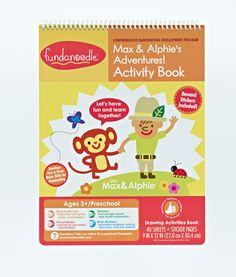Fundanoodle by Carolina Pad Max & Alphie's Adventures! Activity Book $5.99 - This activity book is full of fun exercises, like connecting the dots and navigating mazes, designed to improve visual motor control, increase endurance, build confidence, and develop fine motor skills.