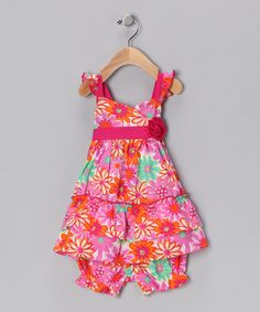 Pink Floral Dress & Bloomers from Nannette on #zulily!