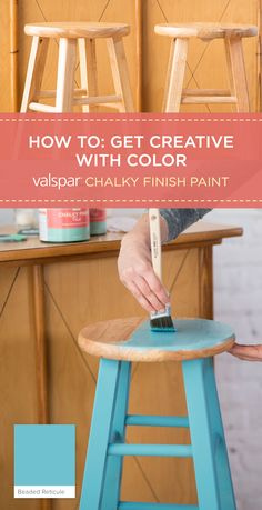 Get a classic farmhouse finish with a naturally weathered look using Valspar chalky finish paint and an Ultra-Matte finish. Choose from over 40 tintable colors to give your project a personality all its own, with colors like Beaded Reticule and Theater Wrap. Watch the how to video here: https://www.youtube.com/watch?v=zIkzfjn9Ew0&list=PLGukLw5MDpOqu8UzljtmDv8_44iUhRjoG&index=2