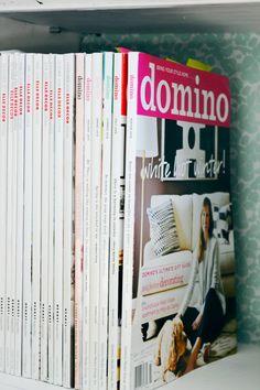 Organizing and storing magazines on a bookcase Organizing, Organization, Magazine Crafts, Interior Inspiration, Magazines, Bookcase, Rooms, Interiors, Interior Design