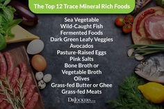 Trace minerals are needed in small amounts and yet they play a powerful role in health. Find out the best trace mineral rich foods to optimize your health. Grass Fed Meat, Grass Fed Butter, Vitamin K Foods, Good Vitamins For Women, Best Multivitamin, Clean Eating, Healthy Teeth, Fermented Foods, Best Diets