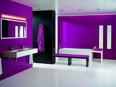 Wij hebben thuis een paarse badkamer  ben verliefd op