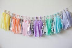 Pastel Rainbow Tassel Garland 20 by LoveGarlands on Etsy, $25.00