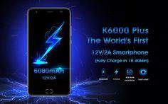 Oukitel K6000 Plus es un teléfono inteligente de gama alta a un precio increíble. Con memoria ROM de 64GB, RAM de 4GB, batería de 6080mAh y Android 7.0.