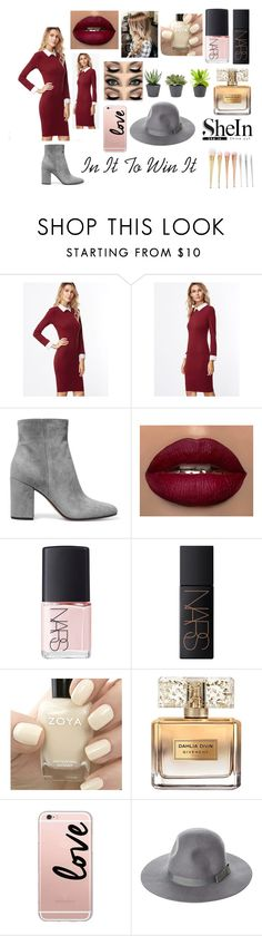 """""""In It To Win It"""" by bronte-ryan ❤ liked on Polyvore featuring Gianvito Rossi, NARS Cosmetics, Zoya, Givenchy and Brixton"""