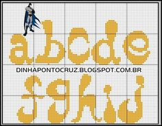 Monogram Batman 1 (lower case) (a-j)
