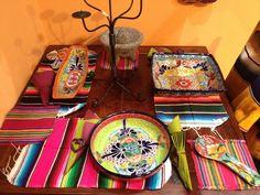 Dining table & Talavera ceramics by La Tienda - exhibition picture March 2012