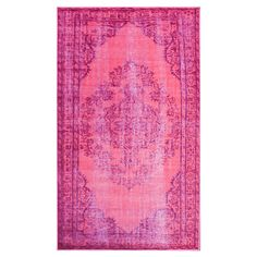 Found it at AllModern - Remade Distressed Overdyed Pink Area Rug