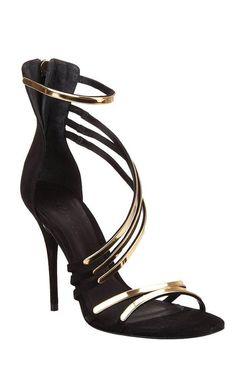 Ezri - black and gold heel