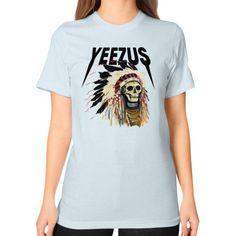 Yeezus kanye west band Unisex T-Shirt (on woman)