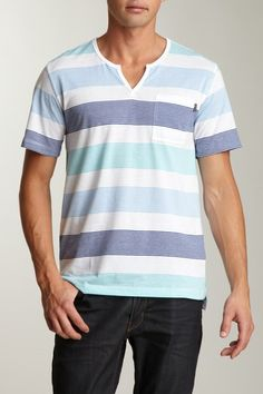 ONE90ONE  Outlasting Stripe Short Sleeve Tee    Was $38.00, now $13.00