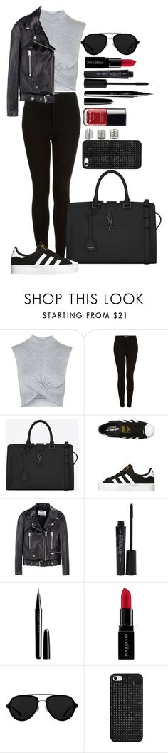 """""""Untitled #1383"""" by fabianarveloc on Polyvore featuring Topshop, Yves Saint Laurent, adidas Originals, Acne Studios, Smashbox, Marc Jacobs, Chanel, 3.1 Phillip Lim, BaubleBar and women's clothing"""