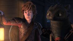 Hiccup and Toothless entering the Reaper in Dreamworks Dragons: Race to the Edge