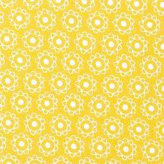 Drømmeposebetræk-inspiration:  Bomuld støvet gul m små blomster