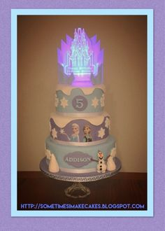 Sometimes I Make Cakes: Icing Smiles Frozen Themed Cake
