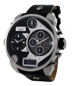 Bigger IS Better  #sorryboutit  I'm so in love with Diesel watches and the large oversized collection is seriously my favorite.  This is seriously a major statement piece.   A Steal at $176.75!