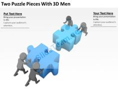 D Men Assembling Puzzle Solution Concept Ppt Graphics Icons