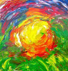 The sun www.uwschilderijopmaat.nl
