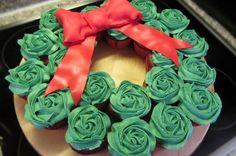 /\   Cupcakes... kerstkrans