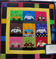 car quilt. Wish I had one of these when my boys were little.