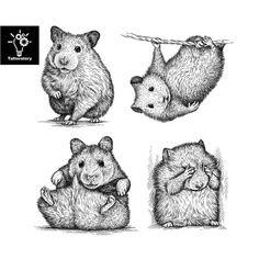 Hamster Temporary Tattoo Hamster Tattoo Hamster Fake Tattoo