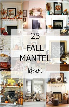 25 of the BEST Fall Mantel Ideas via A Blissful Nest