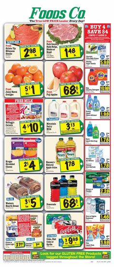 Foods Co 1/9 - 1/15 Weekly Deals & Coupon Matchups