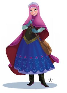 (428) Disney Princesses Muslim Version