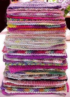 52 weeks of washcloths/dishcloths by PegLI