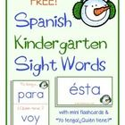 "For Spanish Dual Language kindergarteners, this set targets 30 sight words, and includes mini flashcards and a game of ""Yo tengo/¿Quién tiene?""  Ne..."