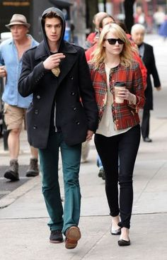 Emma Stone and Andrew Garfield, May 2012