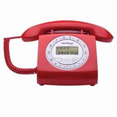 Telefone Com Fio Intelbras Retrô Tc8312 Com Viva Voz E Identificação De Chamadas…