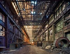 Deserted: Many years have passed since this factory produced anything