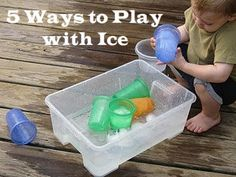 Summer is HOT. We need to cool down. 5 creative ideas for ice play. #BHGSummer
