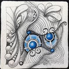 """Tickled To Tangle: """"It's a String Thing"""" #165 Tiles"""