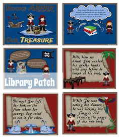 Are your little buccaneers' book manners in ship-shape order? If you are looking for a new way to review book care rules with your kids, The Library Patch has a pirate-themed presentation and mini-book activity ready to go. ARRR you ready? ($)