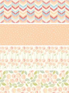 Studio of Mae, peachy patterns