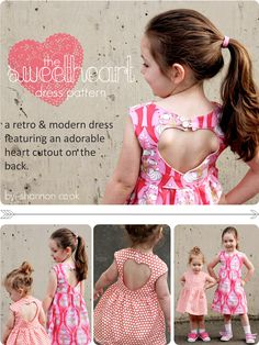 Sweetheart Dress adorable little girl dress sewing pattern by @luvinthemommyhood on @GoToPatterns