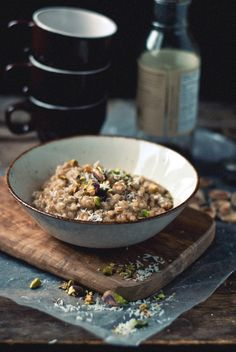 Spiced Coconut Barley w/ Pistachios and Maple - Vegan
