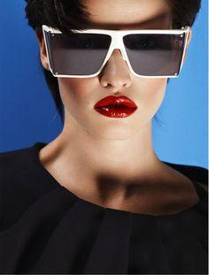 Lara Stone - Vogue  Photographer - Cuneyt Akeroglu. So 80's editorial.
