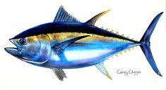 Big Eye Tuna Painting  - Big Eye Tuna Fine Art Print