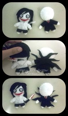 Creepypasta Plushies | the killer plushies by minbfbabystar artisan crafts dolls plushies ...