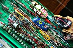 Necklace inspiration on Upper Lascar Row, Hong-Kong